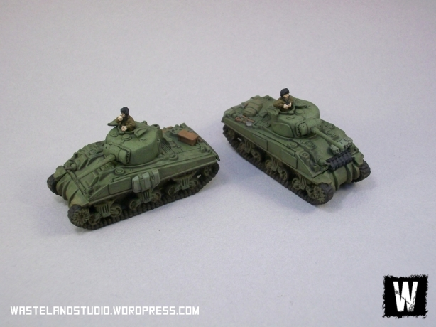 The British command and 2iC Shermans