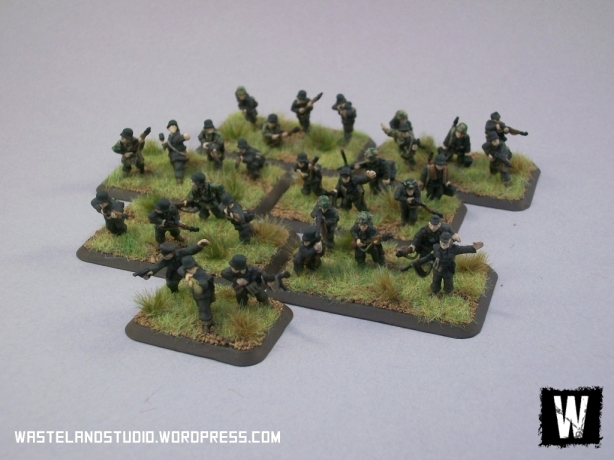 The first platoon of Grenadiers