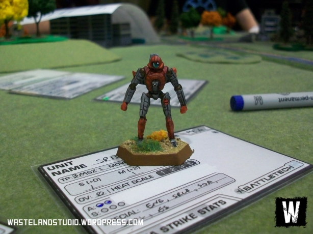 A Spider waiting for deployment, on a prototype of the stat cards