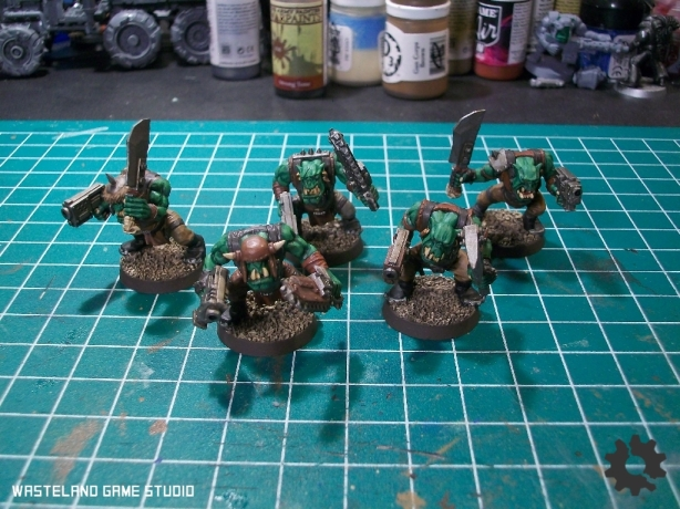 "I may change the colors on the bases slightly - so far these are the first boyz ""finished"""