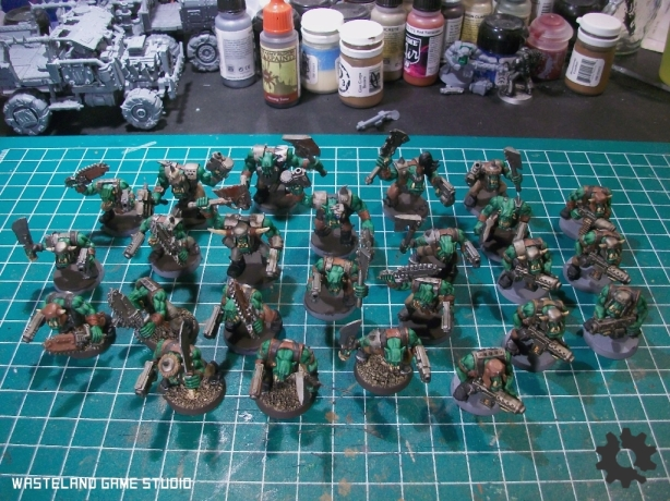 The horde so far - the painting is all done, now for the bases...