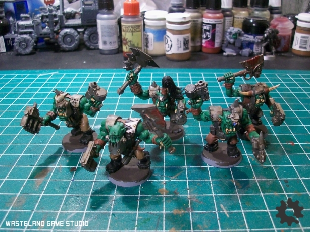 The first batch of Nobs - this is the first time using Citadel's amusingly named blood effect paint - I quite like it